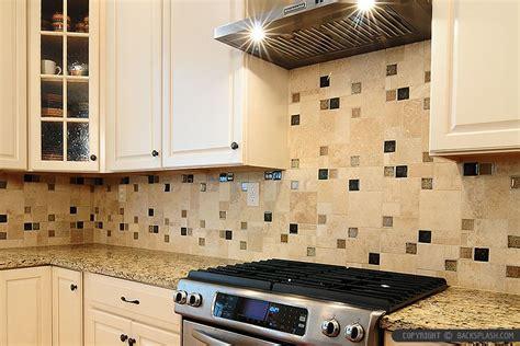 How To Install Glass Tile Kitchen Backsplash travertine backsplash glass tile insert beige cabinet
