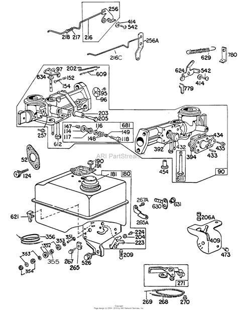 briggs and stratton fuel diagram briggs and stratton 130212 0928 99 parts diagram for