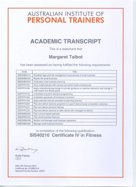 fitness certificate outright about