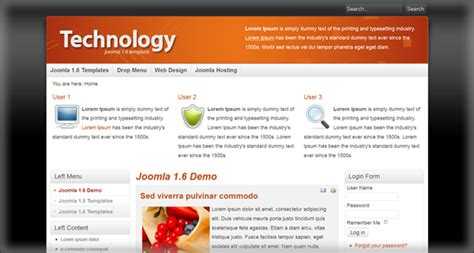 joomla technology templates free joomla 1 6 templates for joomla community