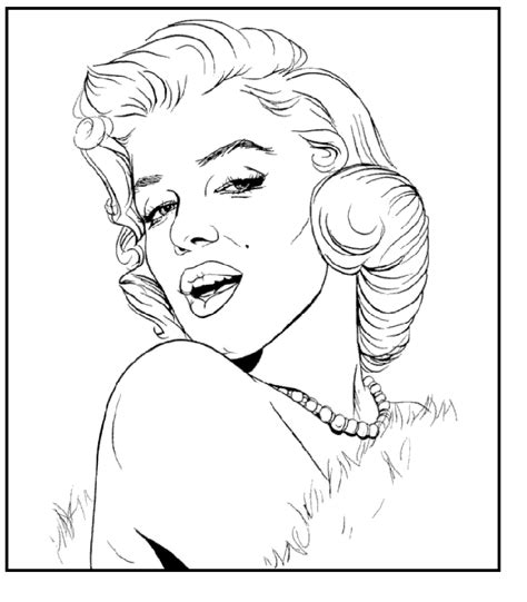 Marylin Monroe Coloring Page Coloring Pages Drawings | coloring pages marilyn monroe căutare google t factory