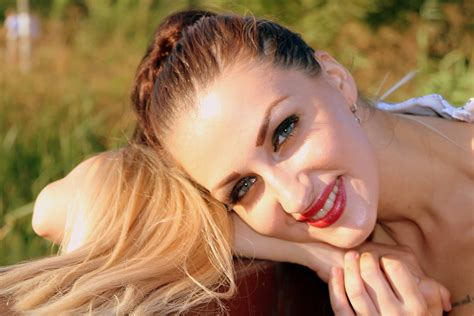 picture woman girl nature summer smile teeth photo model face portrait