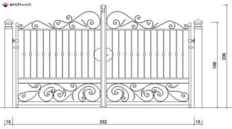 maniglia porta dwg cancelli in ferro battuto gates dwg 5