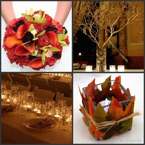 cheap fall wedding decorations dalia s fall wedding color schemes