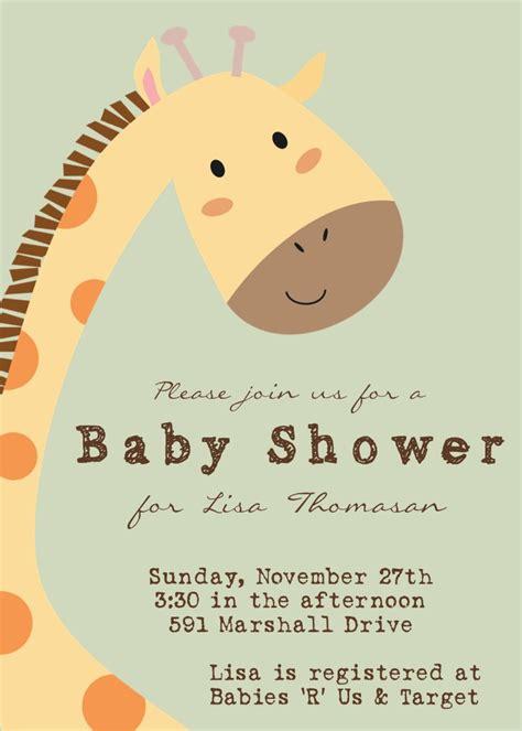 giraffe baby shower invitations template river photo greetings baby shower invitations