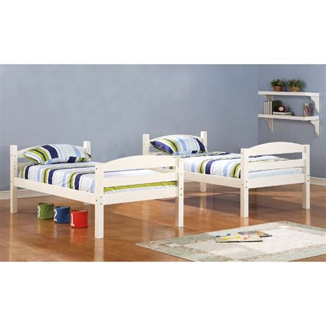 white wood twin bed walker edison solid wood twin size bunk bed white bwstotwh