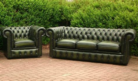 green leather chesterfield sofa home furniture design