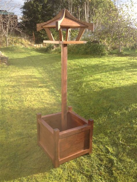 Bird Table With Planter Base by Oak Bird Table Planter Planter Bird Tables