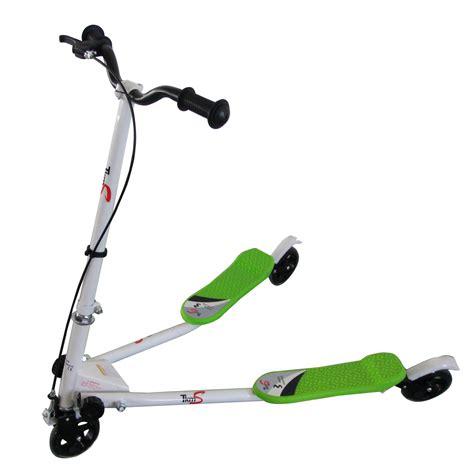 3 wheel swing scooter green 3 wheel mini swing tri motion slider winged push