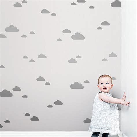 size wall stickers 56pcs set white clouds wall stickers big size clouds with mini clouds wall stickers for