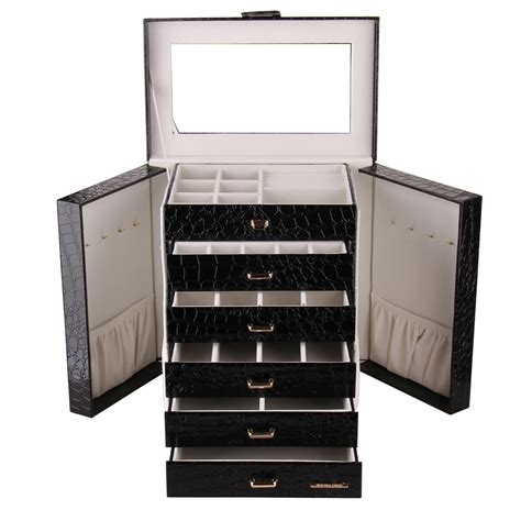 large jewelry boxes armoires large jewellery box ring costume watch gift storage case