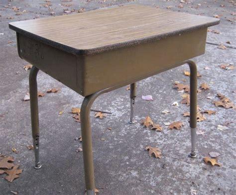 metal school desk before welcome to heardmont