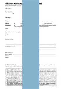 tenancy agreement unfurnished form template amp sample