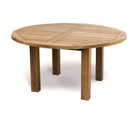 Wooden Patio Tables Titan New Teak 5ft Wooden Garden Table 150cm