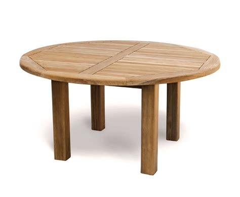 Titan NEW Teak 5ft Round Wooden Garden Table   150cm