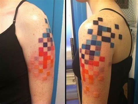 pixel tattoo pixel by idexa tattoomagz