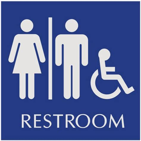 Bathroom Signs by Basic Engraved Restroom Signs Wheelchair Accessible Unisex