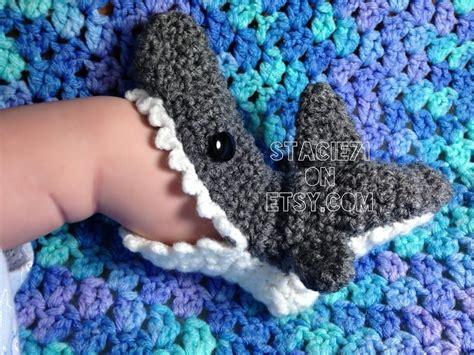 crochet dinosaur slippers crocheted shark slipper socks via craftsy crochet