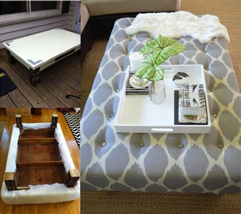 ottoman plans do it yourself diy ottoman from old coffee table tutorial do it