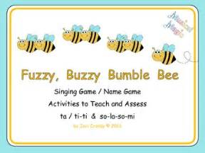 Fuzzy Buzzy Bumble Bee Singing Name Game Rhythm And Pitch Activities Free Singing Bee Powerpoint Template