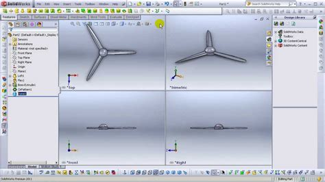 solidworks tutorial youtube 2011 solidworks 2011 tutorials simple propeller design hd