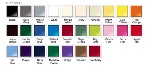 american spirit color chart rustoleum shade card spray paint my world