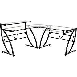 z line designs belaire l shaped glass computer desk black