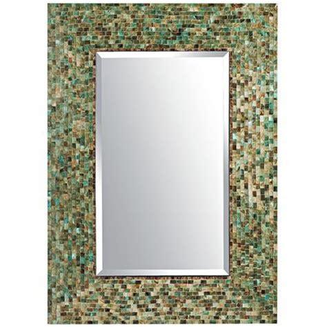 bathroom mirrors pier one mosaic 30x42 mirror diy tiles