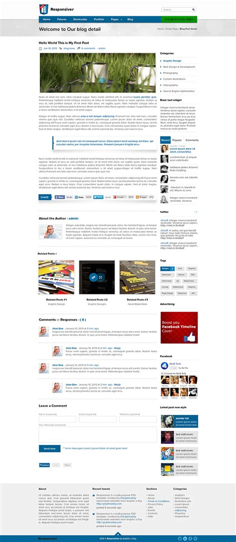 template photoshop bootstrap responsiver multipurpose bootstrap psd template on behance