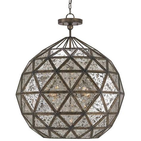 Orb Light Chandelier Preeda Global Bazaar Antique Mirror Orb 6 Light Chandelier Kathy Kuo Home