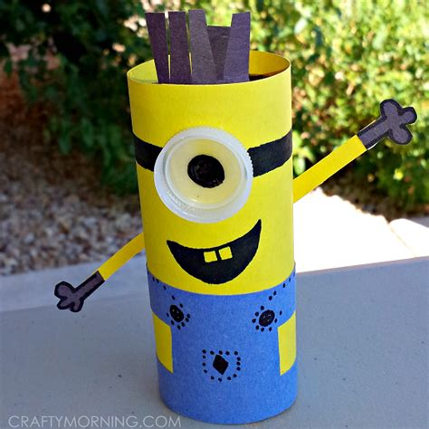 Minion Toilet Paper Roll Craft - minion toilet paper roll craft for despicable me