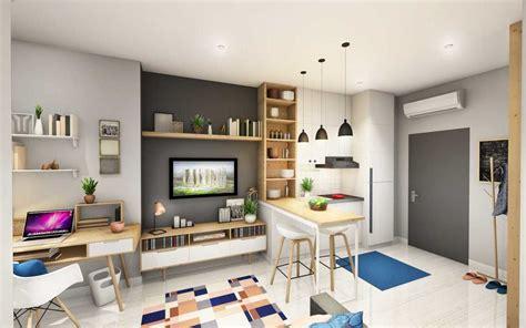 desain dapur kecil keren hiasan ruang tamu rumah flat kecil desain rumah