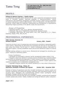 Professional Resume Format by Professional Level Resume Sles Resumesplanet
