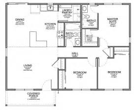 3 Bedroom Floor Plan Floor Plan For Affordable 1 100 Sf House With 3 Bedrooms And 2 Bathrooms Evstudio Architect