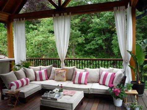 patio decor ideas outdoor curtains for porch and patio designs 22 summer decorating ideas