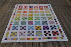 rainbow 9 patch quilt top vicki flickr