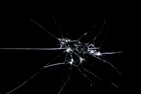 cracked screen black windows background wallpaper broken glass shattered crack abstract window bokeh pattern