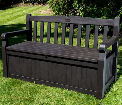 outdoor resin storage bench black resin outdoor storage bench