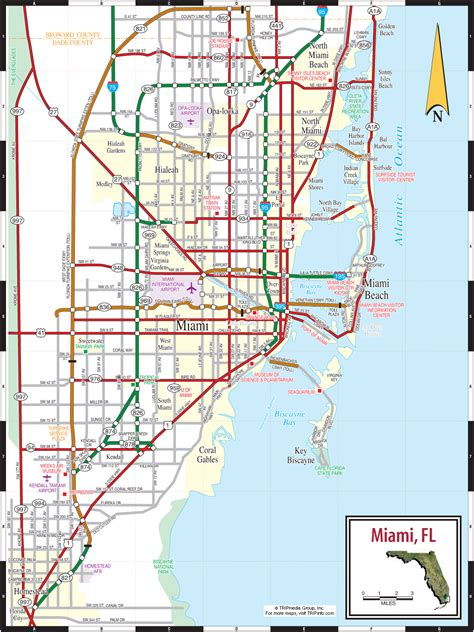 miami map map of miami miami maps mapsof net