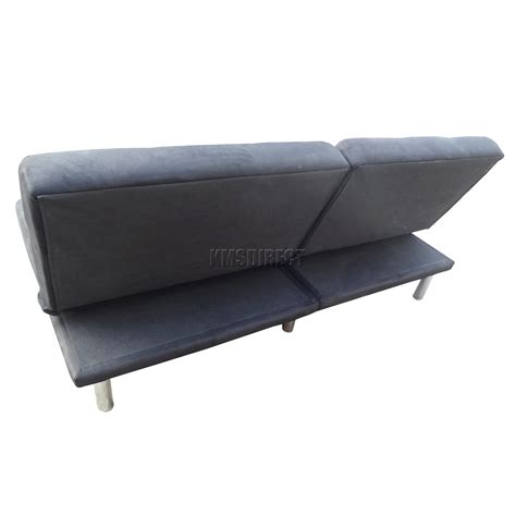 Suede Sofa Bed Foxhunter Fabric Faux Suede Sofa Bed Recliner 2 Seater Living Room Furniture New Ebay