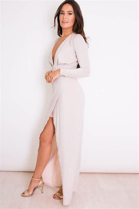 Emilia Dres By Alila Jersey in mind mauve sleeve gown alila boutique