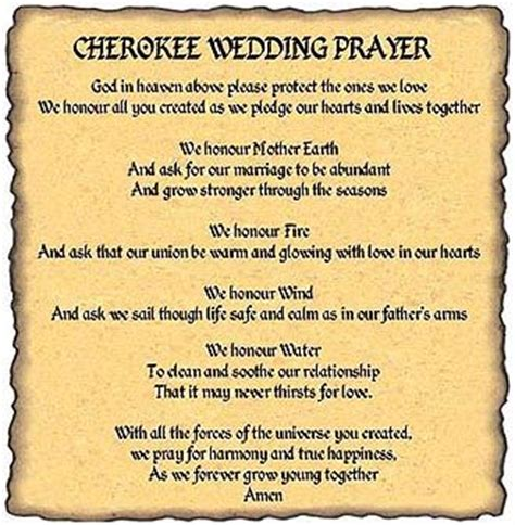 apache indian wedding blessing prayer cherokee wedding prayer have someone read it in
