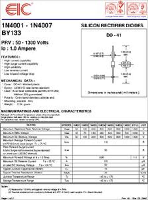 datasheet silicon rectifier diodes