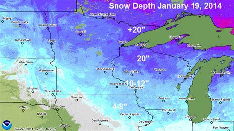 snow depth map current snow depth kttc weather