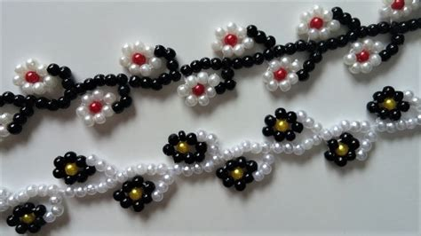 easy beading patterns for beginners floral bracelet tutorial easy beading pattern for