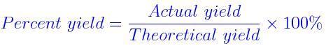 percent yield chemistry 101