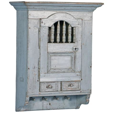 Antique Blue Cabinets by Antique Blue Swedish Hanging Wall Cabinet Circa 1880 At