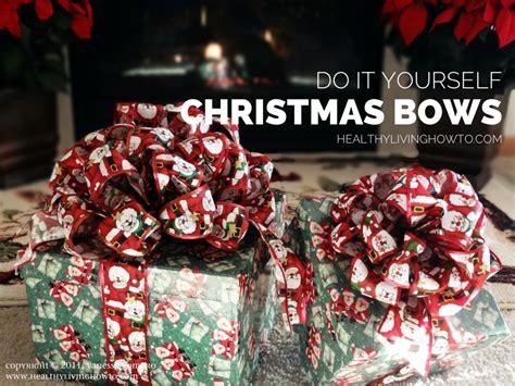 how to make christmas bows