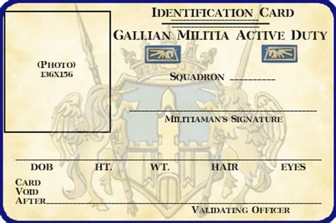 us army id card template gallian militia id card template by lieutenantgordon on