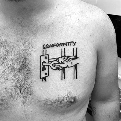 simple chest tattoos for men 50 simple chest tattoos for manly design ideas